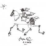 Skizze Pferd-Reiter